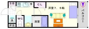 クレド桜川:間取8