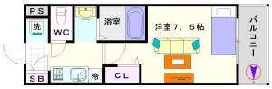 クレド桜川:間取10