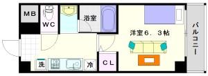 グランパシフィック桜川南:間取2