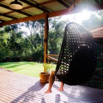 Nannup Bush Retreat - Sunbathing and enjoying the bush on the verandah