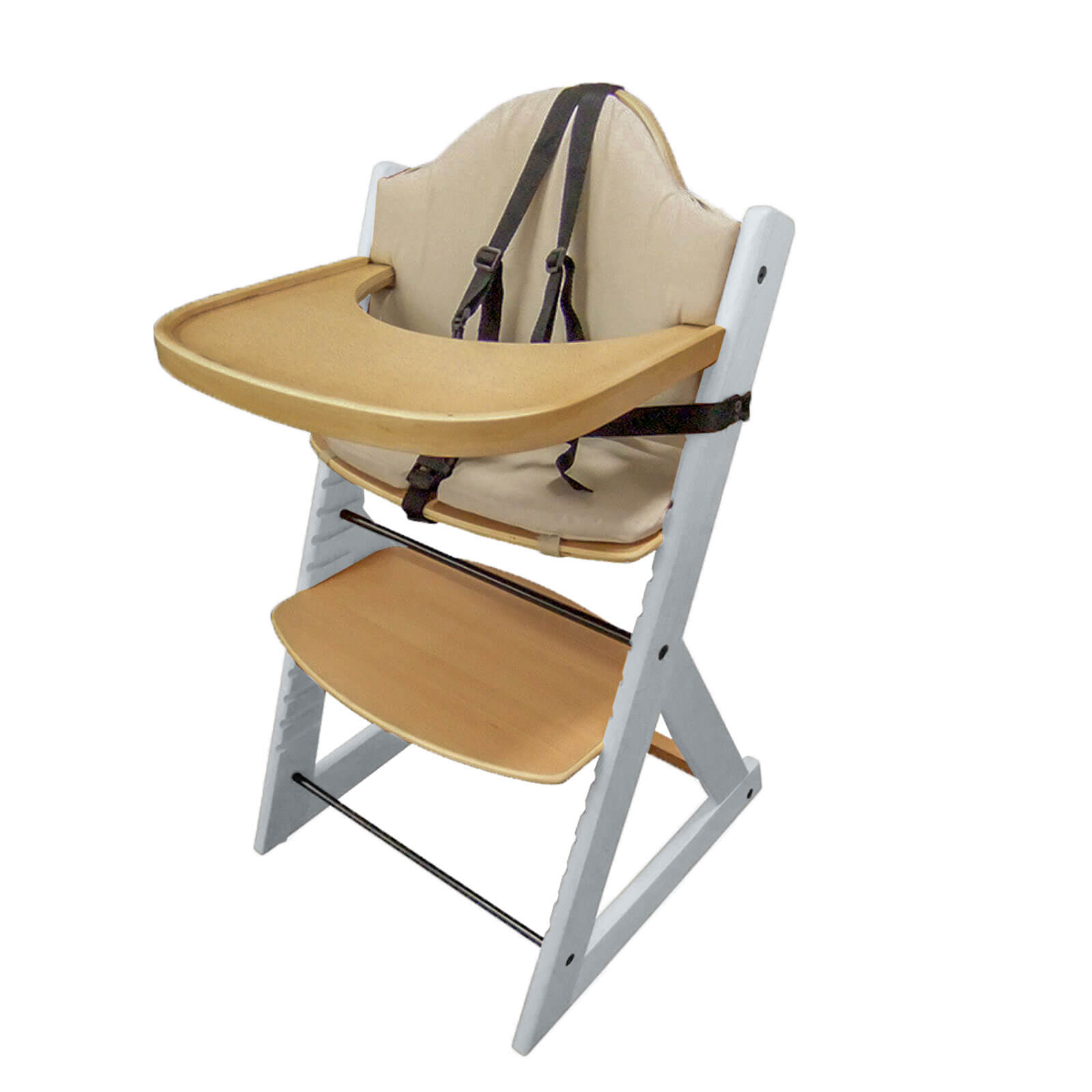 Wooden Baby High Chair Wooden Baby High Chair 3in1 Highchair With Tray