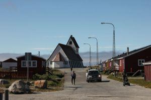 Huvudgatan i Nanortalik