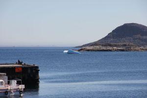 Ett litet isberg i hamnen - det är allt