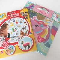 Knustelen met Totum - Unicorn pixel paint knutselsetje en Stick-on-shapes Fairy Tales