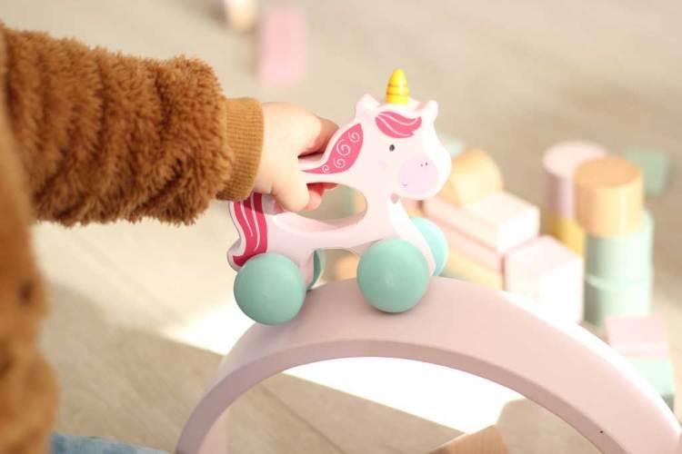 Unicorn-houtspeelgoed