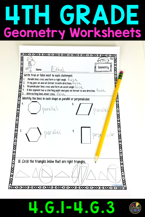 small resolution of 4th Grade Geometry Worksheets   Geometry Worksheets on Best Worksheets  Collection 7687