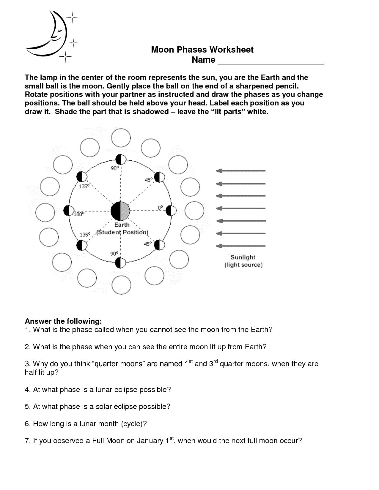 hight resolution of Image For Moon Phases Worksheet   Teachers Pet!   Worksheets