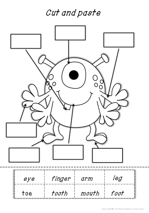small resolution of My Body Parts Math And Literacy Worksheets   Preschool Activities on Best  Worksheets Collection 6264