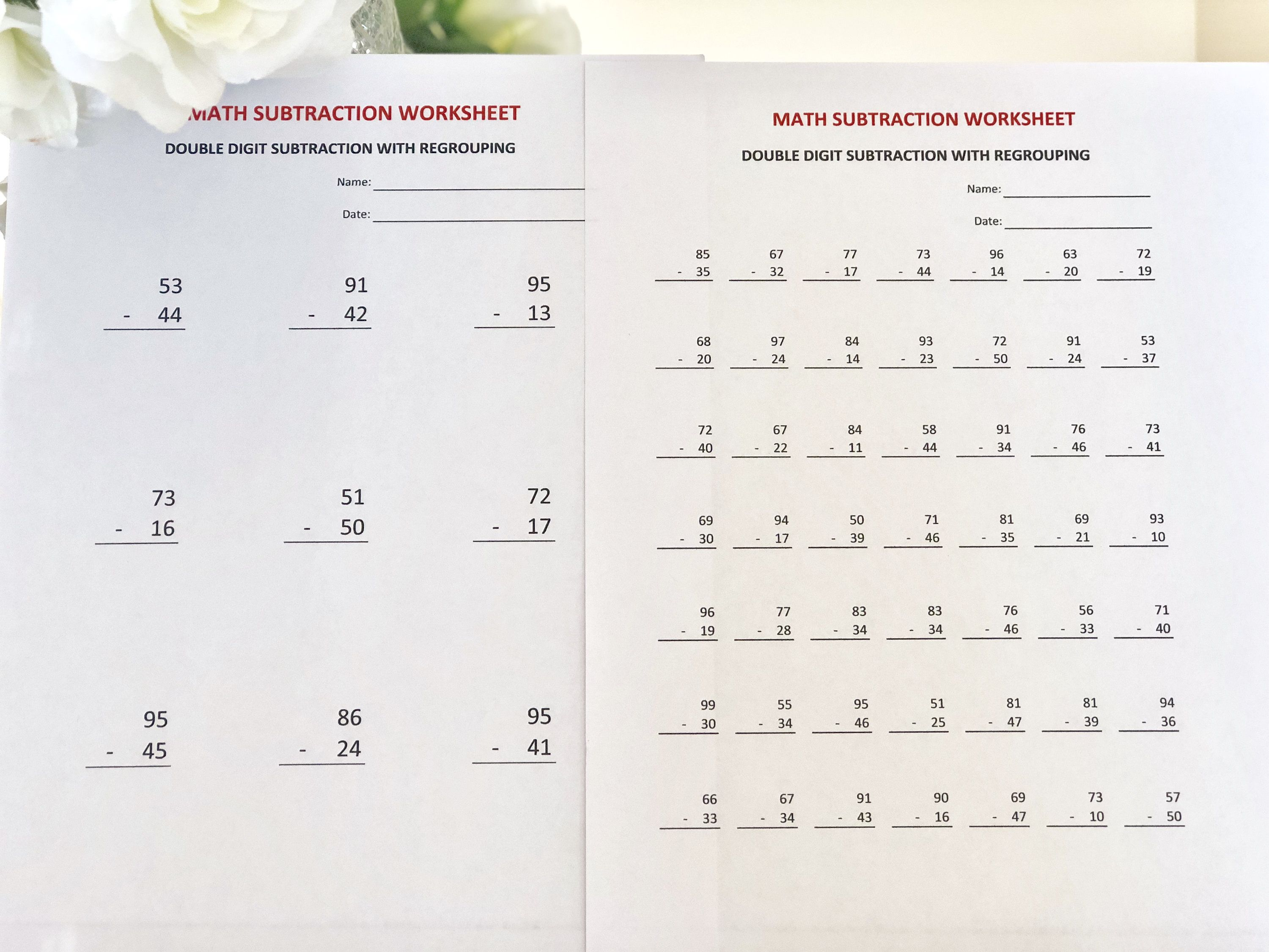 19 Best Double Worksheets Images On Best Worksheets Collection