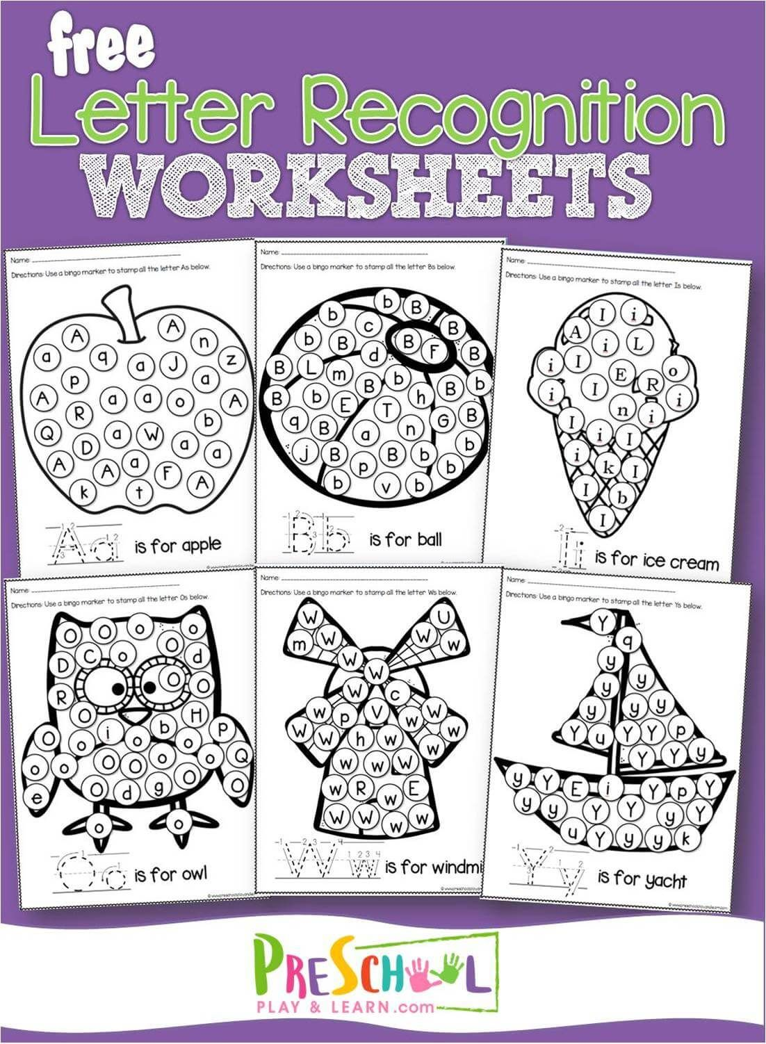 18 Best Toddler Alphabet Worksheets Images On Best