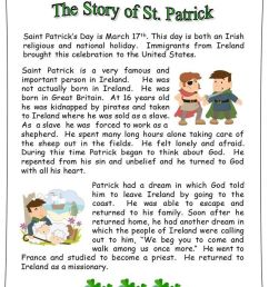 The Story Of St Patrick: Reading/ 3 Vocabulary Worksheets/ Sequence on Best  Worksheets Collection 8725 [ 1152 x 912 Pixel ]