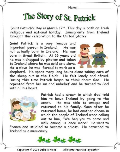 small resolution of The Story Of St Patrick: Reading/ 3 Vocabulary Worksheets/ Sequence on Best  Worksheets Collection 8725
