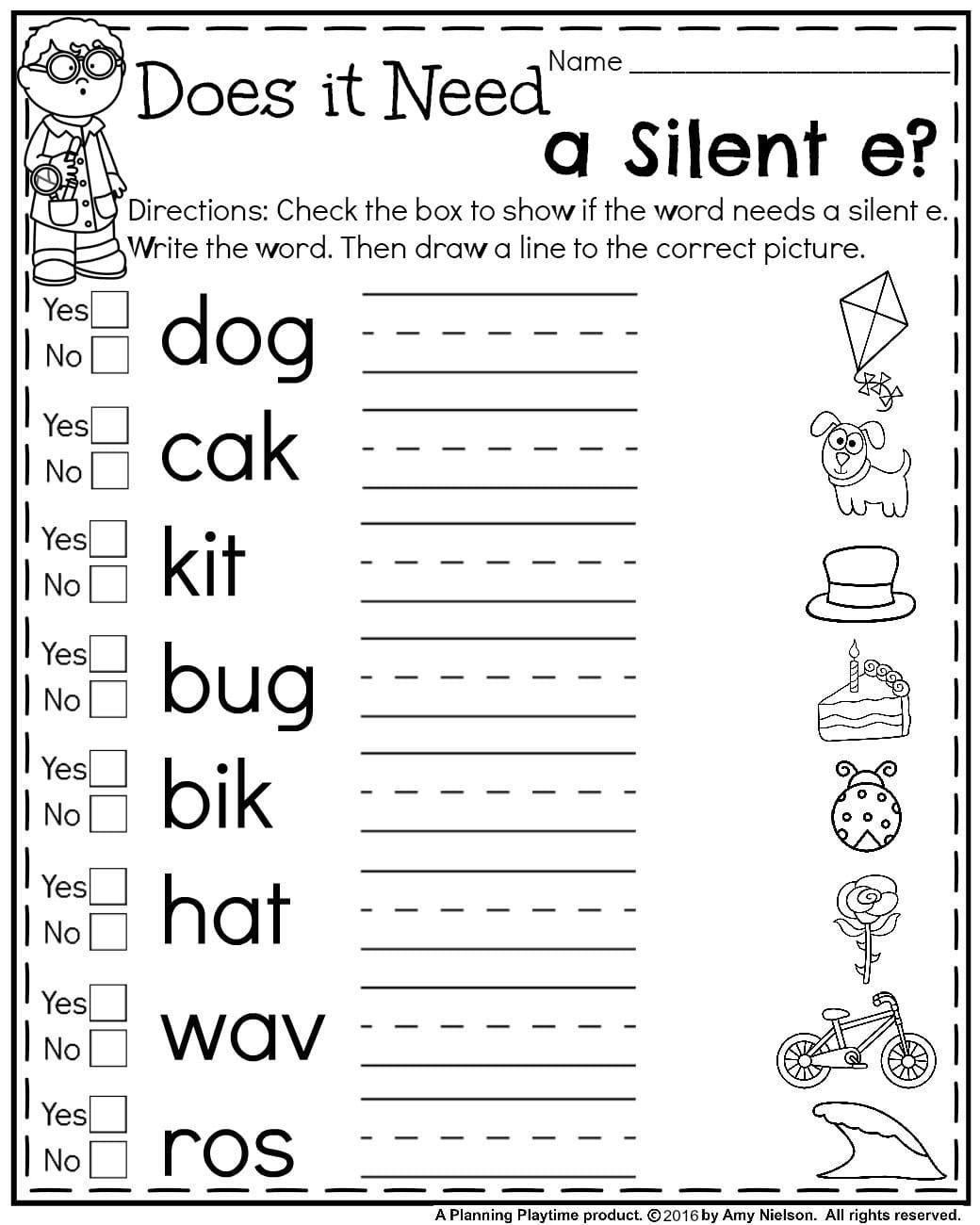 First Grade Summer Worksheets