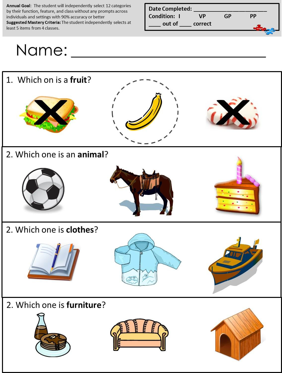 Free Printable Worksheets For Autism Classrooms Available