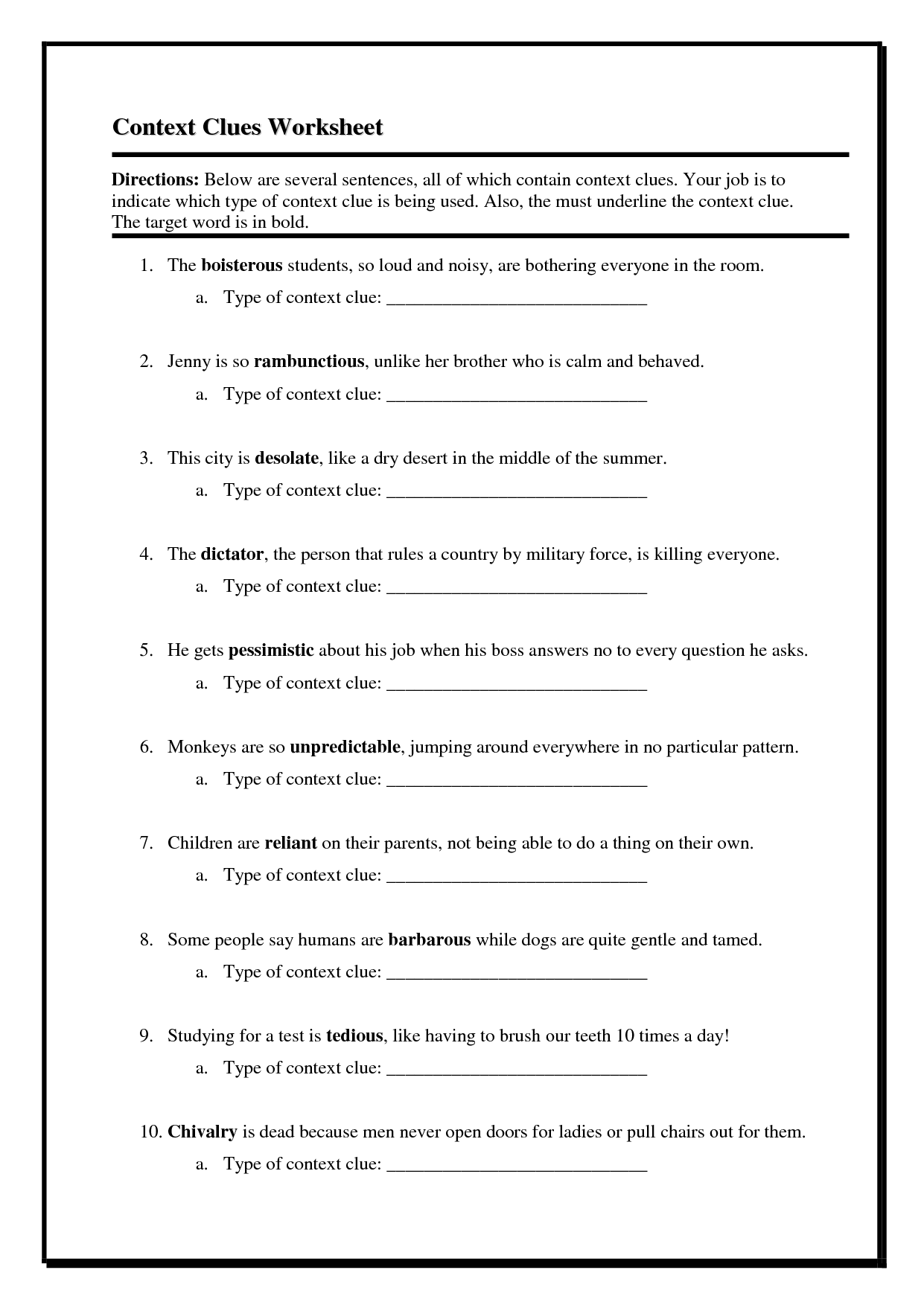 8 Best 9th Grade Reading Comprehension Worksheets Images