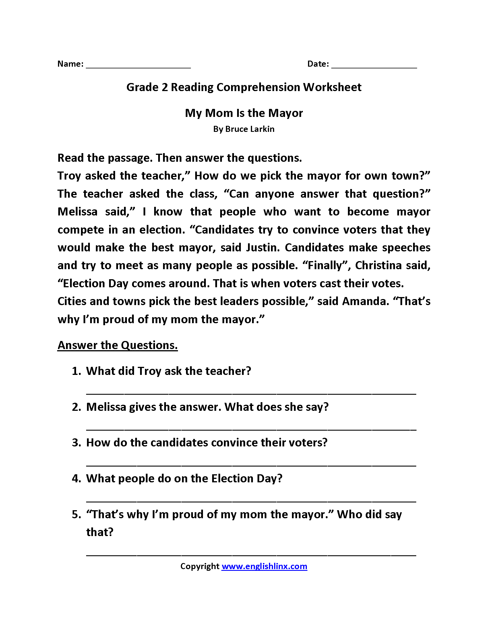 14 Best Comprehension Worksheets Images On Best Worksheets