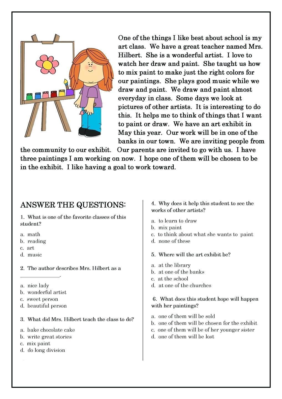 hight resolution of Famous Artist Study Worksheet   Art Worksheets   Art Worksheets