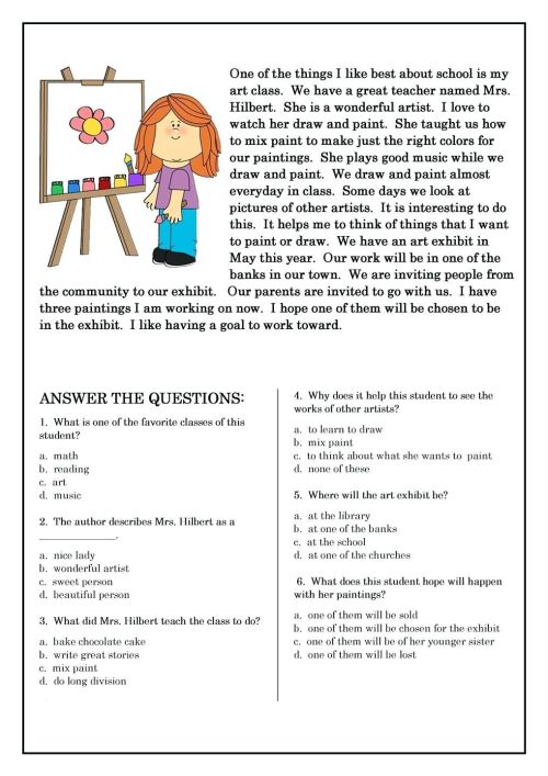 small resolution of Famous Artist Study Worksheet   Art Worksheets   Art Worksheets