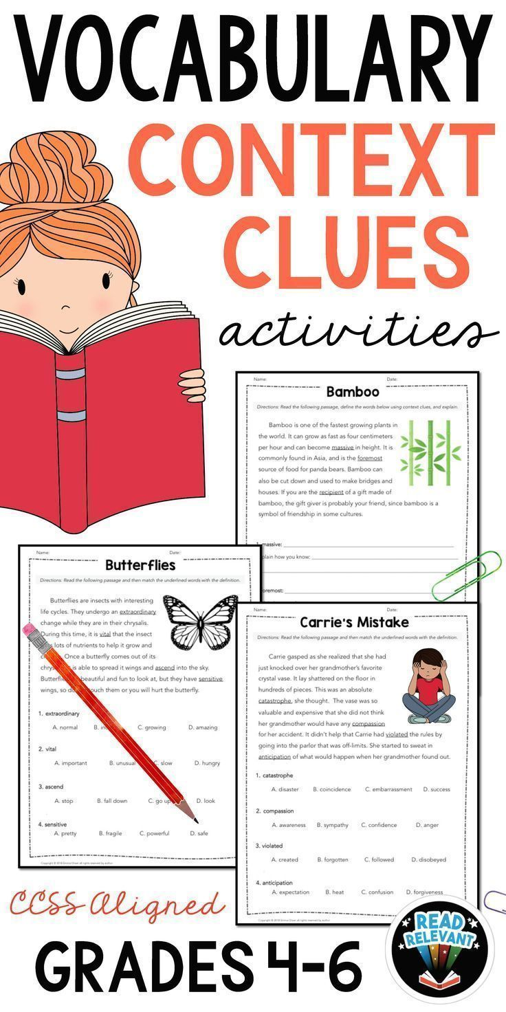 medium resolution of Vocabulary: Practice Using Context Clues Worksheets Grades 4-6 on Best  Worksheets Collection 6907