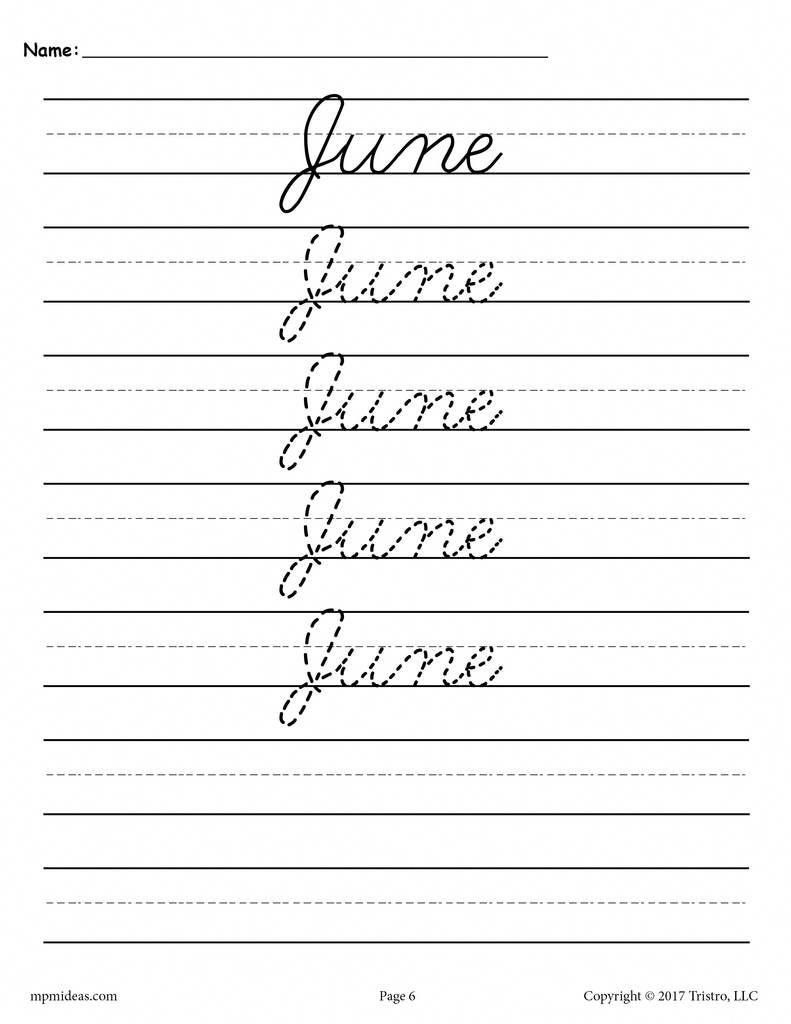 hight resolution of 20 Best Cursive Writing Worksheets images on Best Worksheets Collection