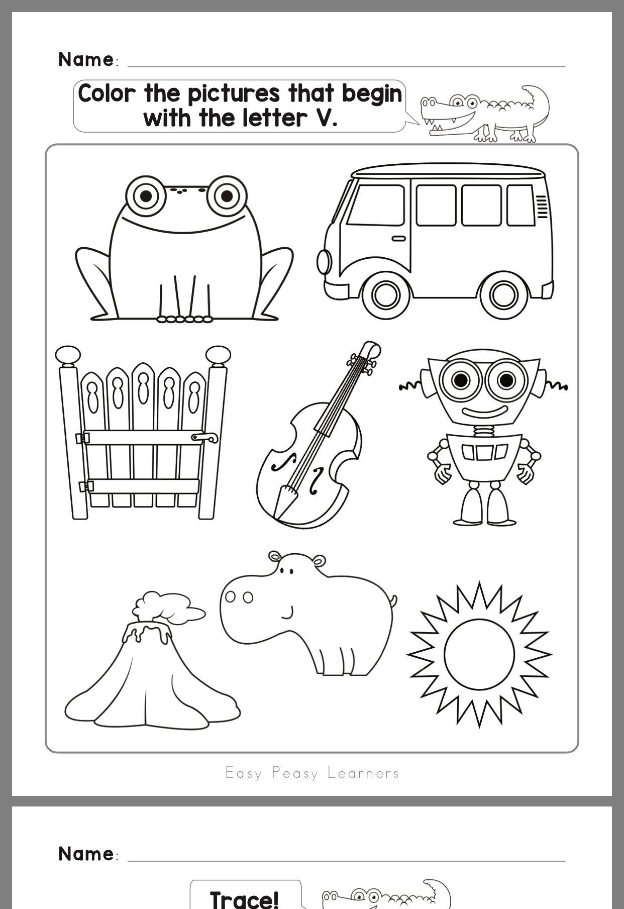 15 Best Letter V Worksheets Images On Best Worksheets