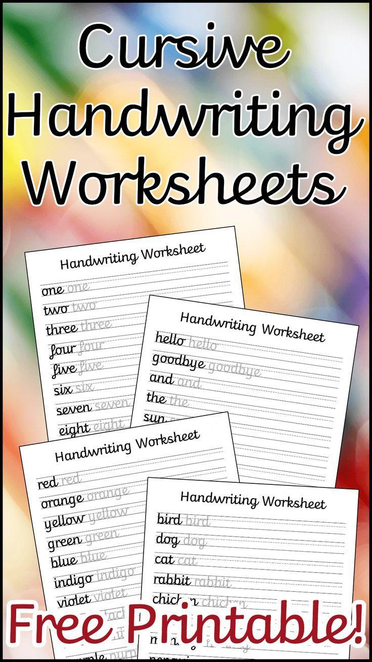 medium resolution of 19 Best Cursive Handwriting Worksheets images on Best Worksheets Collection