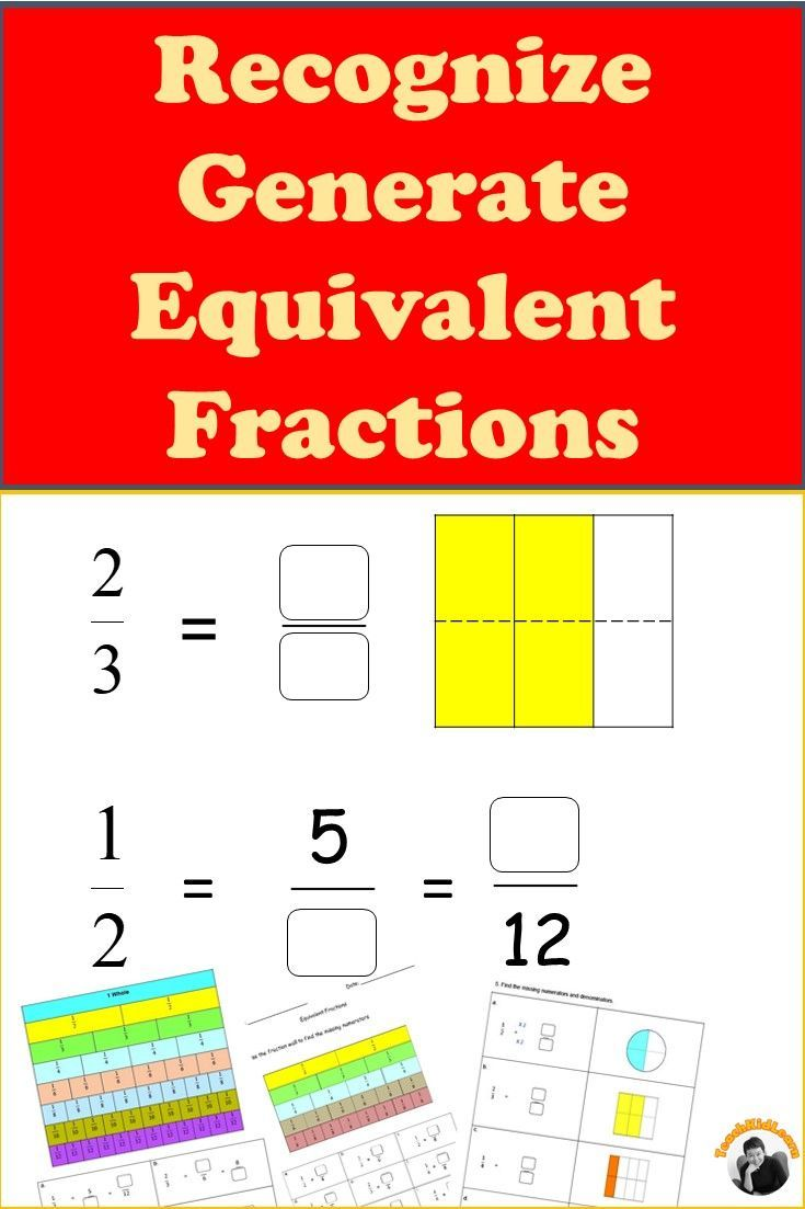 hight resolution of Equivalent Fractions Worksheets 3rd