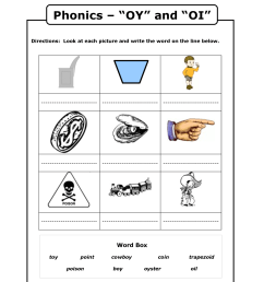 Oy And Oi Phonics Worksheets   Second Grade   Phonics Worksheets on Best  Worksheets Collection 6810 [ 1650 x 1275 Pixel ]