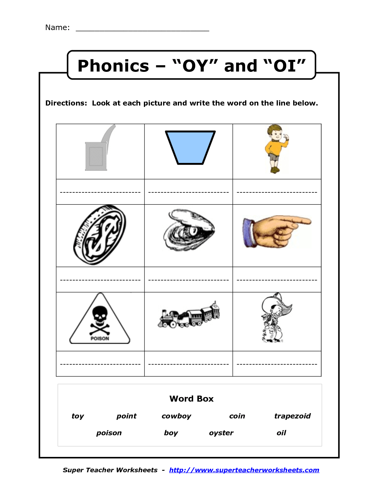 hight resolution of Oy And Oi Phonics Worksheets   Second Grade   Phonics Worksheets on Best  Worksheets Collection 6810