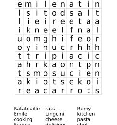 "Ratatouille Word Search Worksheet   Free Math Worksheets   1""1 on Best  Worksheets Collection 8770 [ 1584 x 1224 Pixel ]"