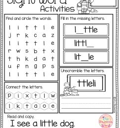 Sight Word Activities (pre-primer)   Rt   Sight Word Worksheets on Best  Worksheets Collection 2052 [ 3486 x 2468 Pixel ]