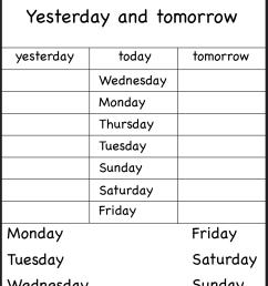 Days Of The Week Worksheets 1⪠Eval   Calendar   Kids English on Best  Worksheets Collection 5686 [ 1964 x 1328 Pixel ]