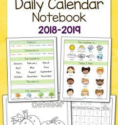 Preschool Calendar Notebook   Worksheets \u0026 Printables For Pre-k To on Best  Worksheets Collection 628 [ 1500 x 1000 Pixel ]