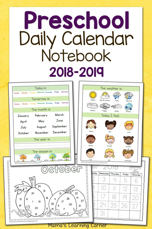 medium resolution of Preschool Calendar Notebook   Worksheets \u0026 Printables For Pre-k To on Best  Worksheets Collection 628