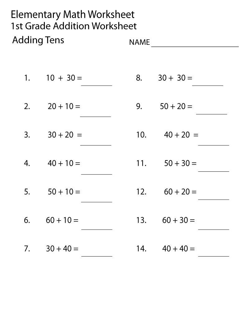 hight resolution of Elementary Math Worksheets 1st Grade   Cv And Skills   First Grade on Best  Worksheets Collection 3979
