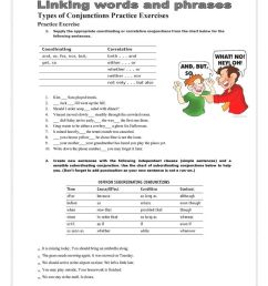 7 Best Conjunctions Worksheets images on Best Worksheets Collection [ 1079 x 763 Pixel ]