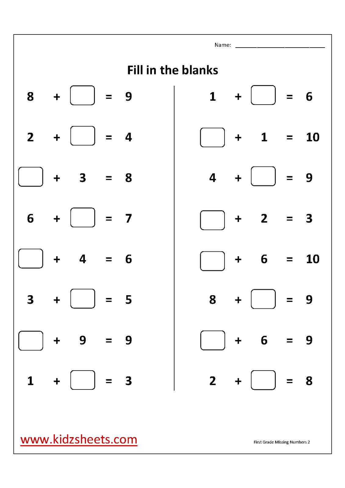 hight resolution of First Grade Missing Addend Worksheets Refrence Unique Free Missing on Best  Worksheets Collection 9178