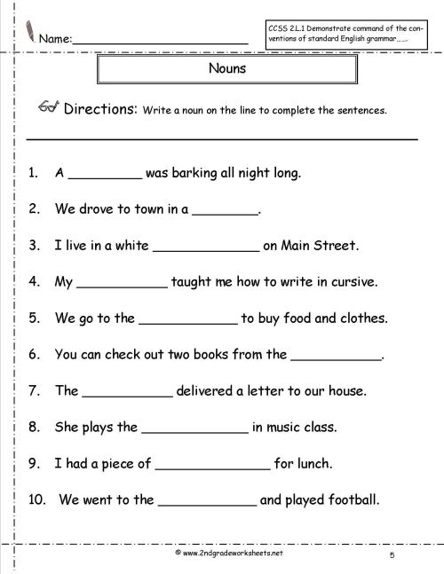 small resolution of English Grammar Noun Worksheet For Grade 1 Elegant Nouns Worksheets on Best  Worksheets Collection 6616