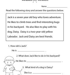 8 Best Comprehension Passages Worksheets images on Best Worksheets  Collection [ 1035 x 800 Pixel ]