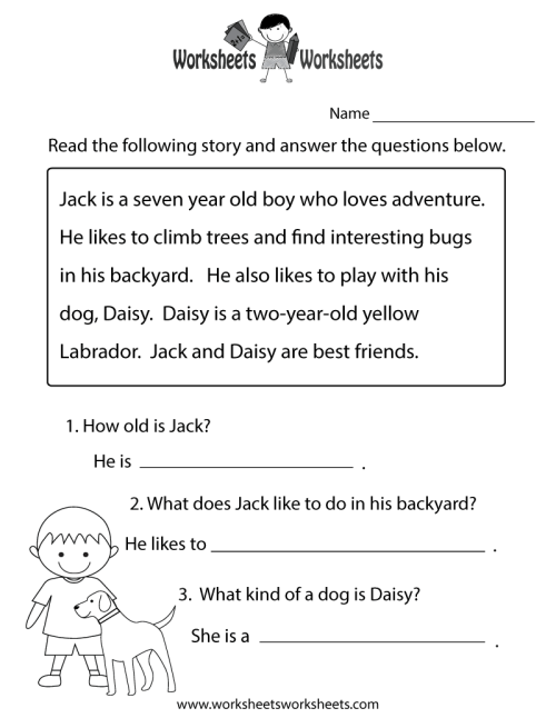 small resolution of 8 Best Comprehension Passages Worksheets images on Best Worksheets  Collection