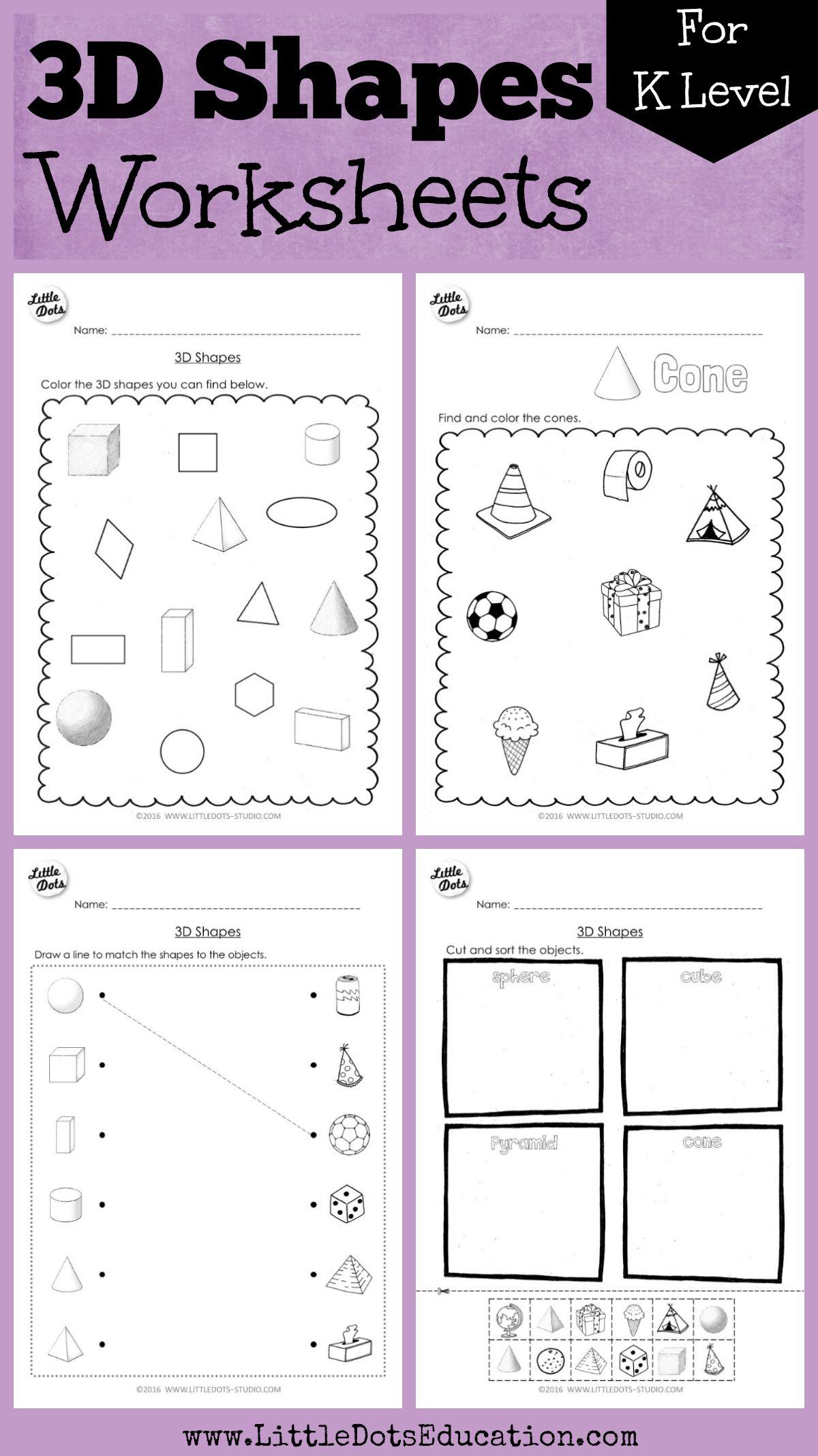 19 Best Shapes Worksheets For Kindergarten Images On Best
