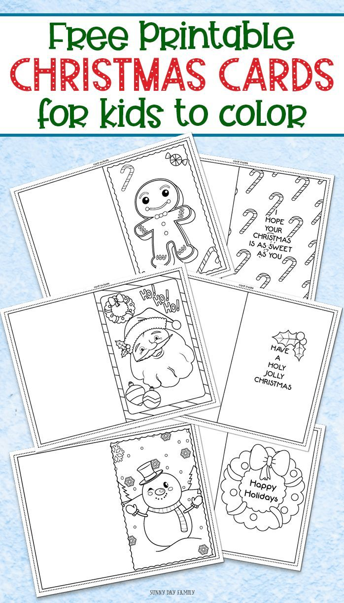 hight resolution of 3 Free Printable Christmas Cards For Kids To Color   Worksheets on Best  Worksheets Collection 5945