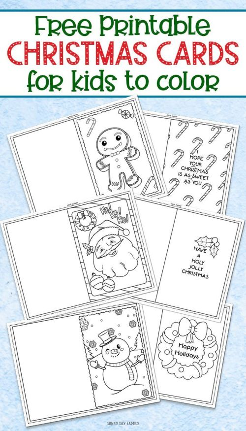 small resolution of 3 Free Printable Christmas Cards For Kids To Color   Worksheets on Best  Worksheets Collection 5945