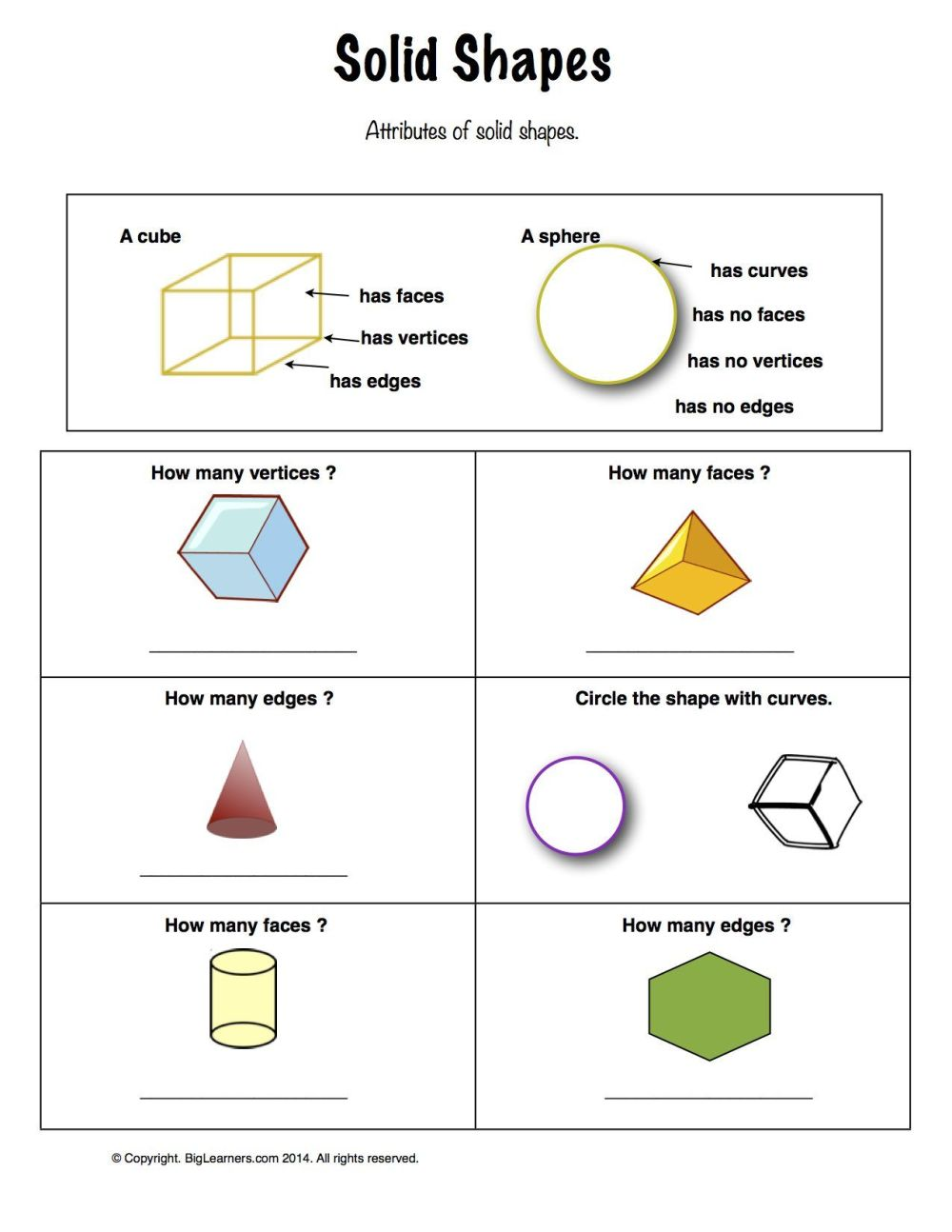 medium resolution of Shapes Math Worksheets 1st Grade   Printable Worksheets and Activities for  Teachers