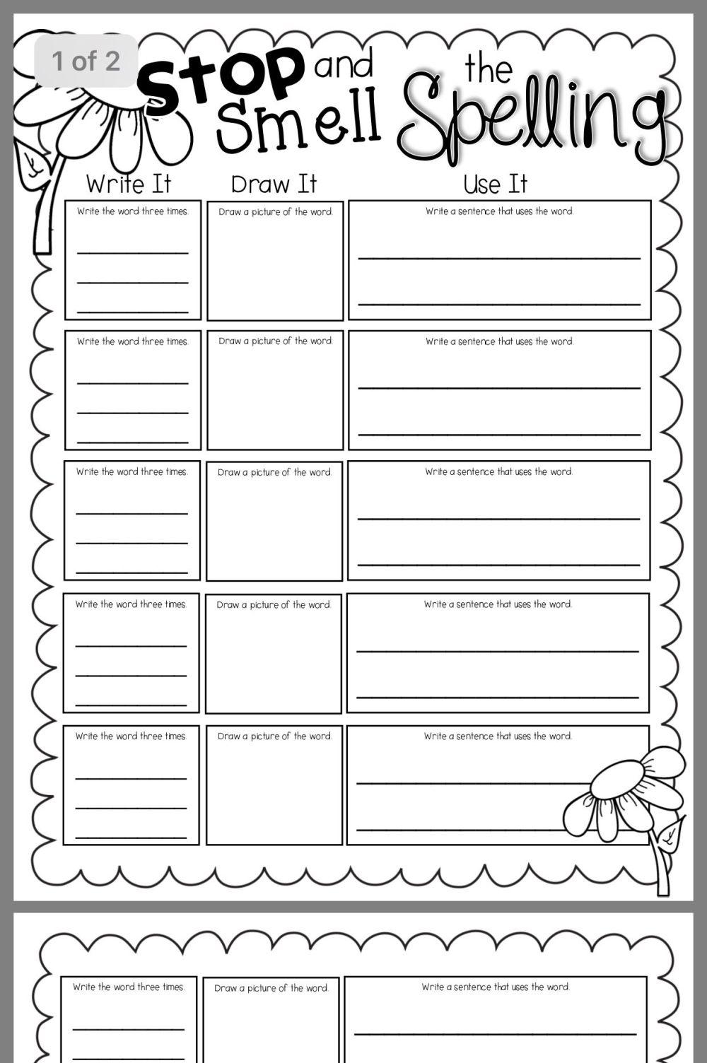 medium resolution of Pin By Rp On Worksheets   Spelling Homework