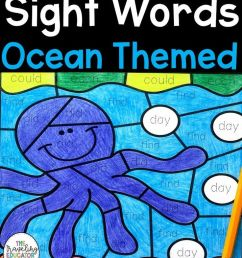 Color By Sight Word Worksheets For 1st Grade With An Ocean Theme on Best  Worksheets Collection 6692 [ 1104 x 736 Pixel ]