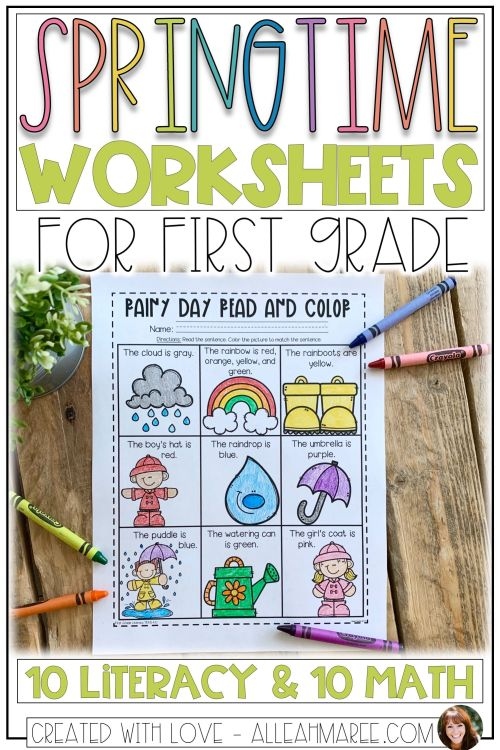 small resolution of Springtime Worksheets For First Grade: Spring Literacy And Math on Best  Worksheets Collection 8718