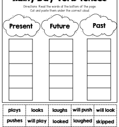 Verb Tenses (cut And Paste)   English Worksheets   2nd Grade Grammar on  Best Worksheets Collection 4833 [ 1325 x 1024 Pixel ]
