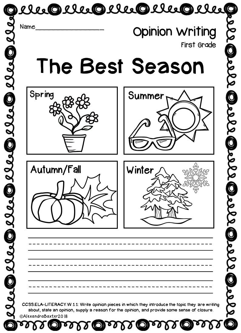 hight resolution of First Grade Opinion Writing Prompts/worksheets   Teaching   Opinion on Best  Worksheets Collection 7835