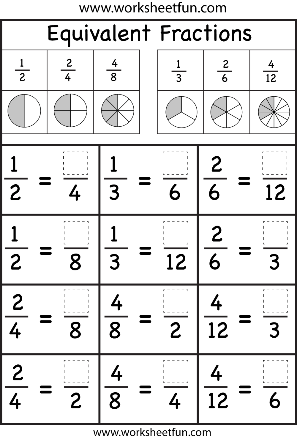 medium resolution of 18 Best Worksheets 4th Grade Math Factions images on Best Worksheets  Collection